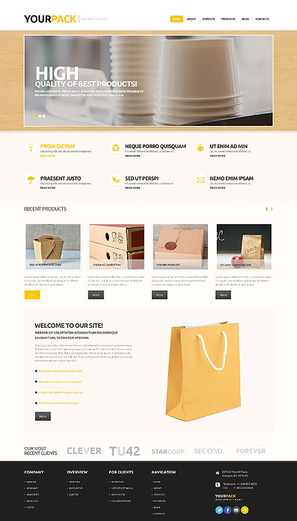 Packaging services responsive wordpress theme packaging services wordpress template pronofoot35fo Choice Image