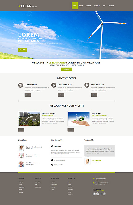 Most Popular Alternative Power website inspirations at your coffee break? Browse for more WordPress #templates! // Regular price: $75 // Sources available: .PSD, .PHP, This theme is widgetized #Most Popular #Alternative Power #WordPress