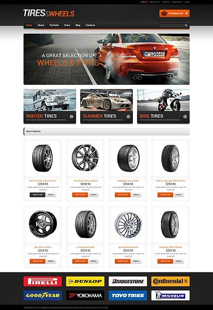 download templatemonster 48891 tires wheels 20 discount