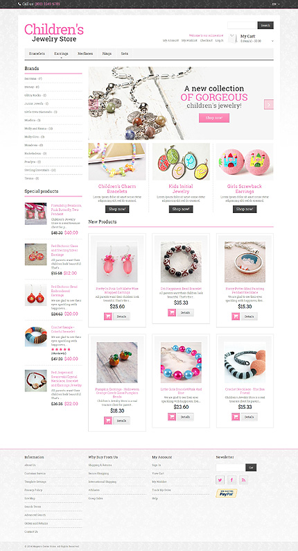Jewelry Most Popular website inspirations at your coffee break? Browse for more Magento #templates! // Regular price: $179 // Sources available: .PSD, .XML, .PHTML, .CSS #Jewelry #Most Popular #Magento
