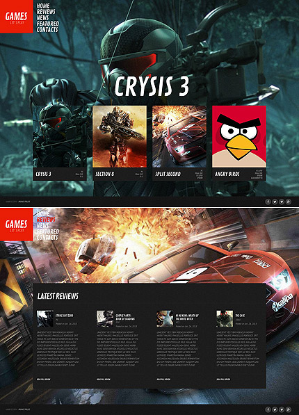 Games website inspirations at your coffee break? Browse for more Moto CMS HTML #templates! // Regular price: $139 // Sources available:<b>Sources Not Included</b> #Games #Moto CMS HTML