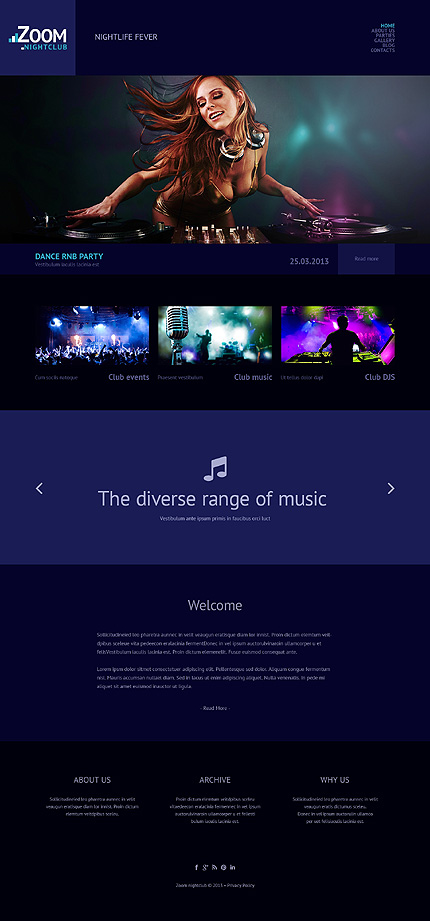 Night Club Most Popular website inspirations at your coffee break? Browse for more WordPress #templates! // Regular price: $75 // Sources available: .PSD, .PHP, This theme is widgetized #Night Club #Most Popular #WordPress