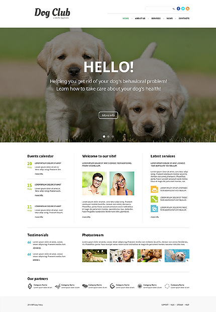 Bootstrap Animals & Pets Joomla Template