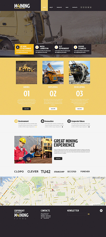 Bootstrap Industrial Website Template