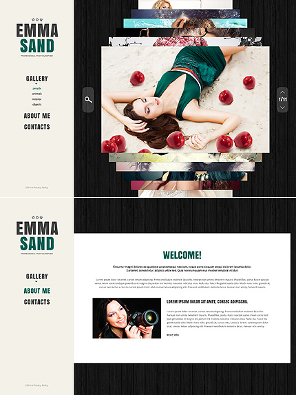 Bootstrap Art & Photography Website Template
