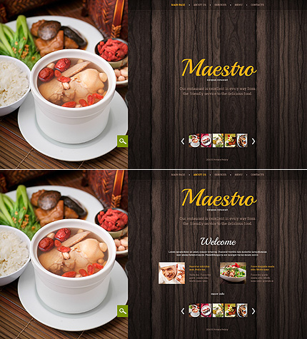 Bootstrap Cafe And Restaurant Website Template