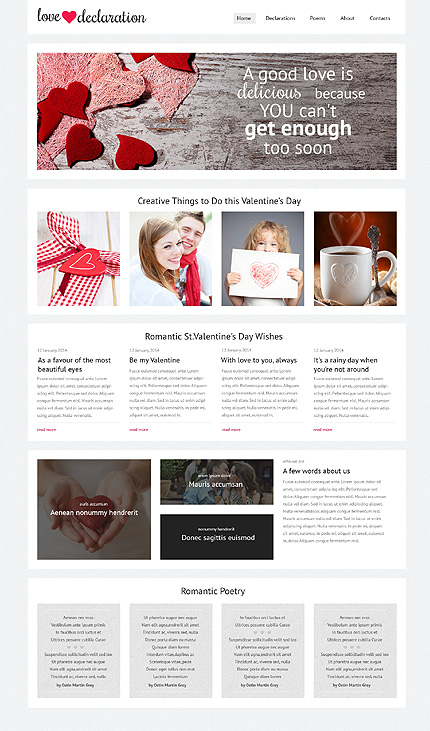 Gifts Website Template Bootstrap