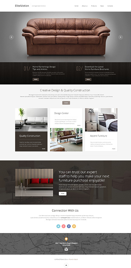 Bootstrap Interior & Furniture Website Template