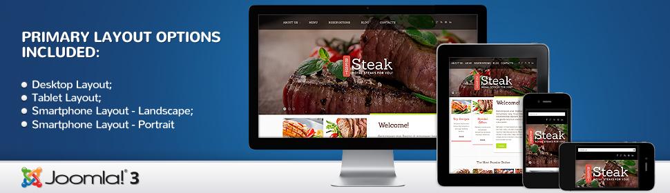 Best Steak - Template Joomla