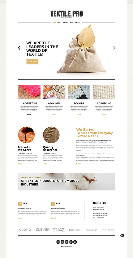 Textile Products Joomla Template