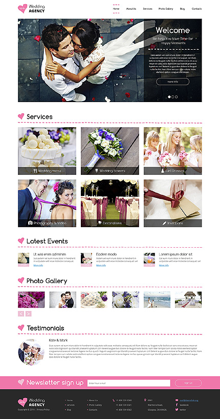 Wedding Most Popular website inspirations at your coffee break? Browse for more Drupal #templates! // Regular price: $75 // Sources available: .PSD, .PHP #Wedding #Most Popular #Drupal