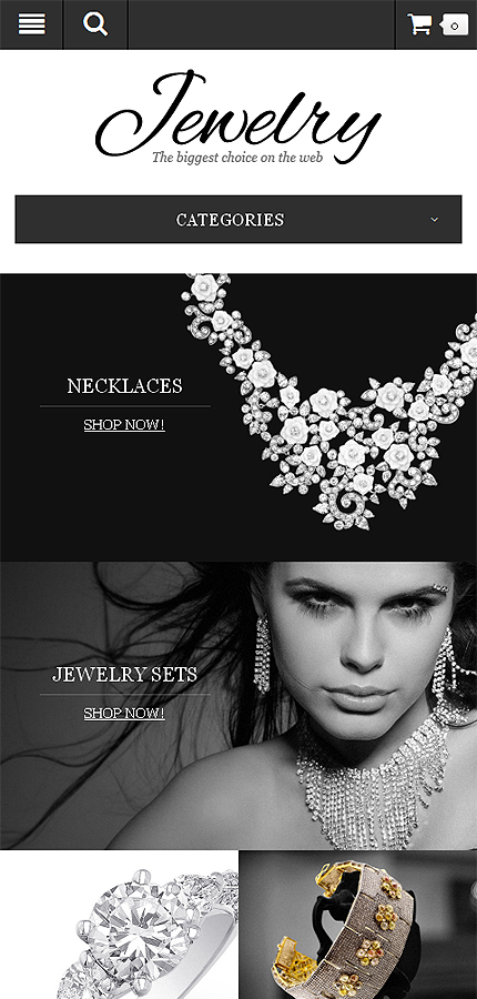 Jewelry Most Popular website inspirations at your coffee break? Browse for more OpenCart #templates! // Regular price: $89 // Sources available: .PSD, .PNG, .PHP, .TPL, .JS #Jewelry #Most Popular #OpenCart
