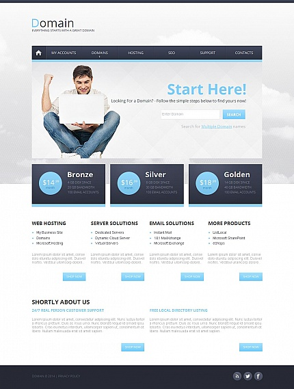 Hosting website inspirations at your coffee break? Browse for more Moto CMS HTML #templates! // Regular price: $139 // Sources available:<b>Sources Not Included</b> #Hosting #Moto CMS HTML
