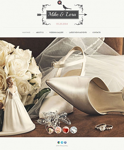 Wedding Most Popular website inspirations at your coffee break? Browse for more Moto CMS HTML #templates! // Regular price: $139 // Sources available:<b>Sources Not Included</b> #Wedding #Most Popular #Moto CMS HTML
