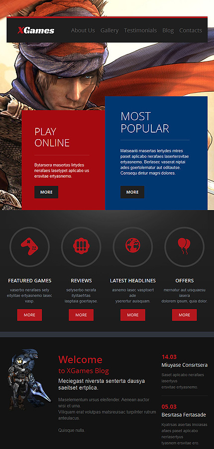 Games Most Popular website inspirations at your coffee break? Browse for more WordPress #templates! // Regular price: $75 // Sources available: .PSD, .PHP, This theme is widgetized #Games #Most Popular #WordPress