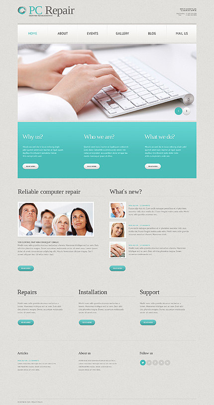 Computers Most Popular website inspirations at your coffee break? Browse for more WordPress #templates! // Regular price: $75 // Sources available: .PSD, .PHP, This theme is widgetized #Computers #Most Popular #WordPress