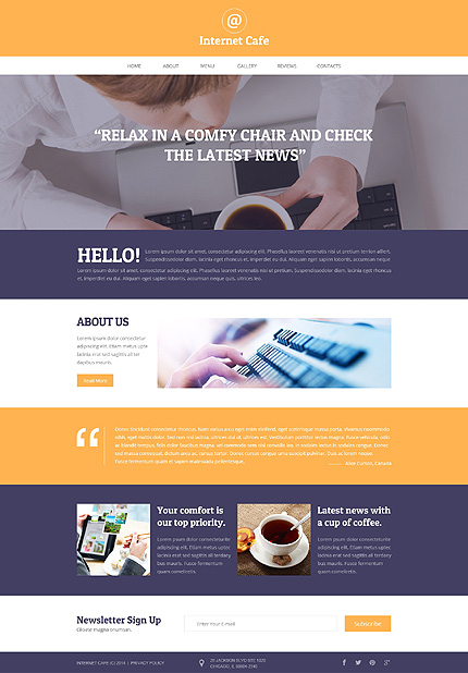 Internet website inspirations at your coffee break? Browse for more Responsive JavaScript Animated #templates! // Regular price: $69 // Sources available: .HTML,  .PSD #Internet #Responsive JavaScript Animated