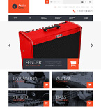 Audio Gear Store OpenCart Template