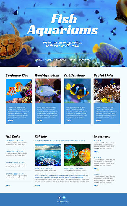 Animals and Pets - Template WordPress