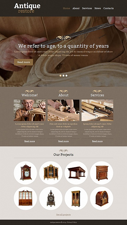 Most Popular Antique Templates website inspirations at your coffee break? Browse for more Moto CMS HTML #templates! // Regular price: $139 // Sources available:<b>Sources Not Included</b> #Most Popular #Antique Templates #Moto CMS HTML
