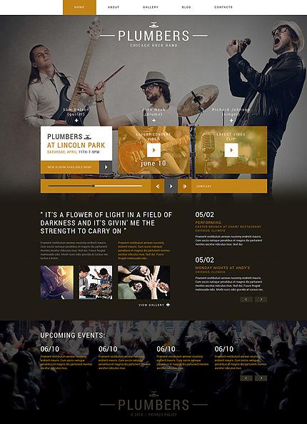 Plantilla para joomla - Categoría: Música - versión para Desktop