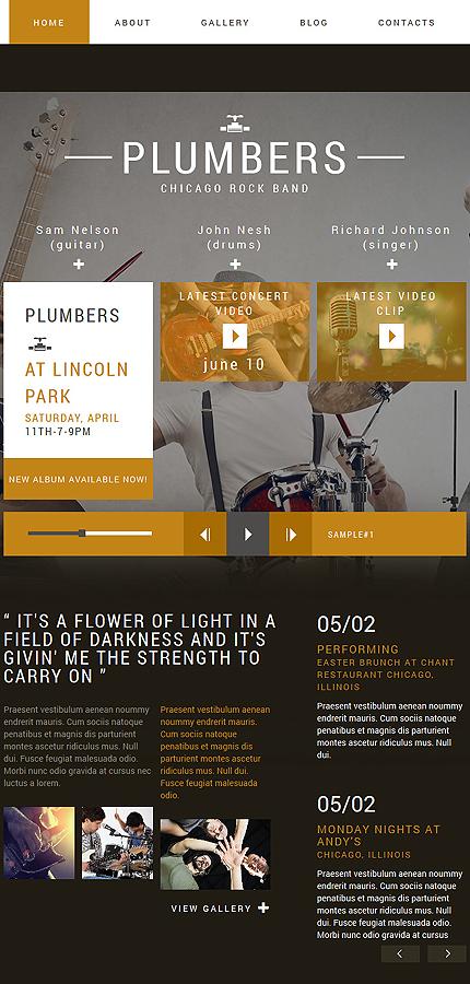 Plantilla para joomla - Categoría: Música - versión para Tablet (Responsive)