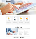 Responsive JavaScript Animated Template #50687