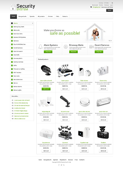 Security website inspirations at your coffee break? Browse for more Zen Cart #templates! // Regular price: $139 // Sources available: .PSD, .PHP #Security #Zen Cart