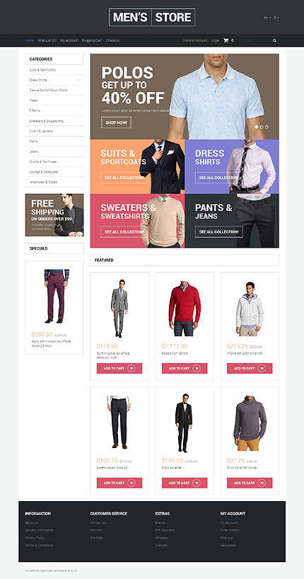 Fashion type opencart templates template 50755 for Opencart template editor