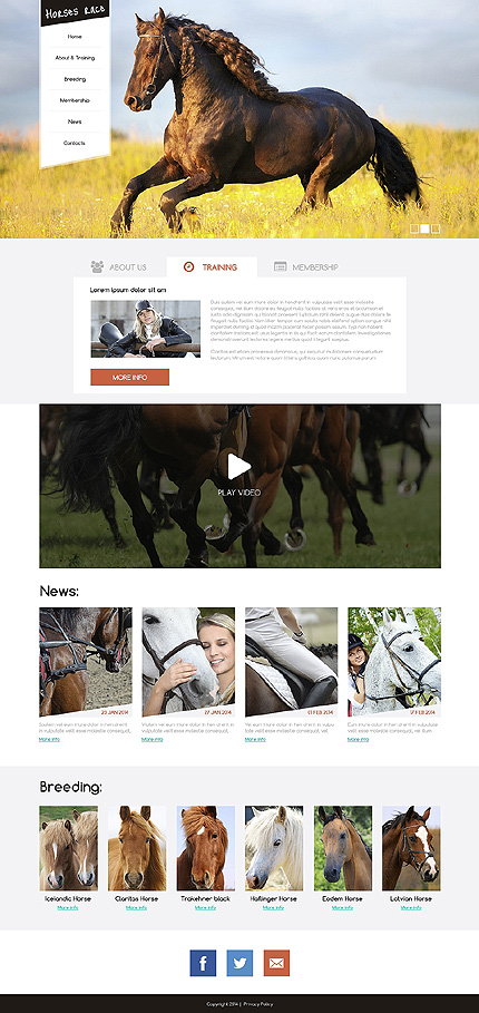 Sport website inspirations at your coffee break? Browse for more Drupal #templates! // Regular price: $75 // Sources available: .PSD, .PHP #Sport #Drupal