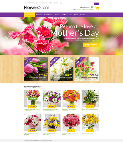 Flowers Most Popular website inspirations at your coffee break? Browse for more Zen Cart #templates! // Regular price: $139 // Sources available: .PSD, .PHP #Flowers #Most Popular #Zen Cart