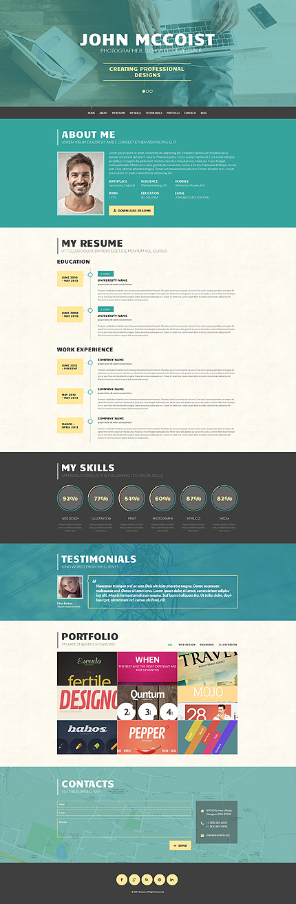 Web Design - Template WordPress