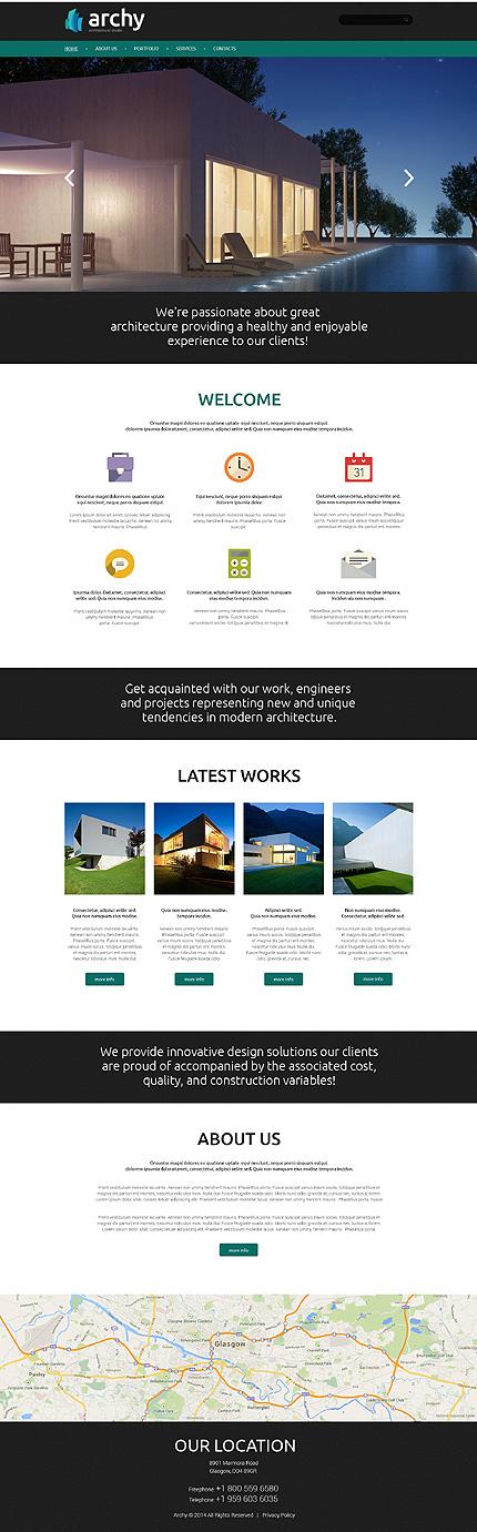 Plantilla 50945 arquitectura sitios web for Arquitectura sitio web