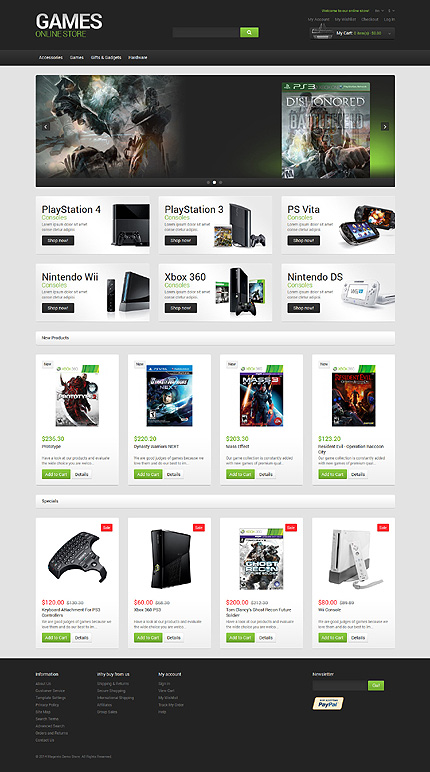 Games Most Popular website inspirations at your coffee break? Browse for more Magento #templates! // Regular price: $179 // Sources available: .PSD, .XML, .PHTML, .CSS #Games #Most Popular #Magento