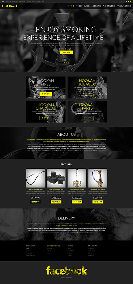 Most Popular Tobacco Templates website inspirations at your coffee break? Browse for more OpenCart #templates! // Regular price: $89 // Sources available: .PSD, .PNG, .PHP, .TPL, .JS #Most Popular #Tobacco Templates #OpenCart