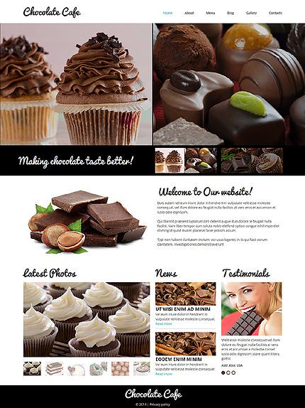 Chocolate Cafe - Template Joomla