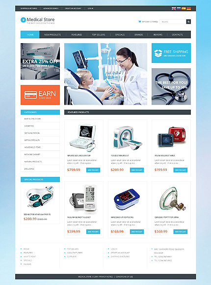 Medical Most Popular website inspirations at your coffee break? Browse for more OsCommerce #templates! // Regular price: $139 // Sources available: .PSD, .PHP #Medical #Most Popular #OsCommerce