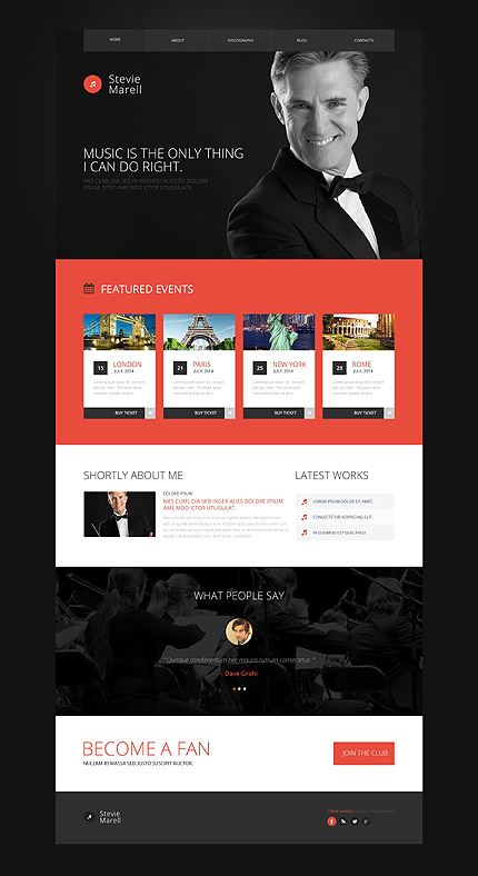 Personal Pages Most Popular website inspirations at your coffee break? Browse for more Bootstrap #templates! // Regular price: $75 // Sources available: .HTML,  .PSD #Personal Pages #Most Popular #Bootstrap