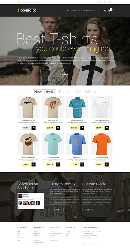 Awesome T-Shirts PrestaShop Responsive Template