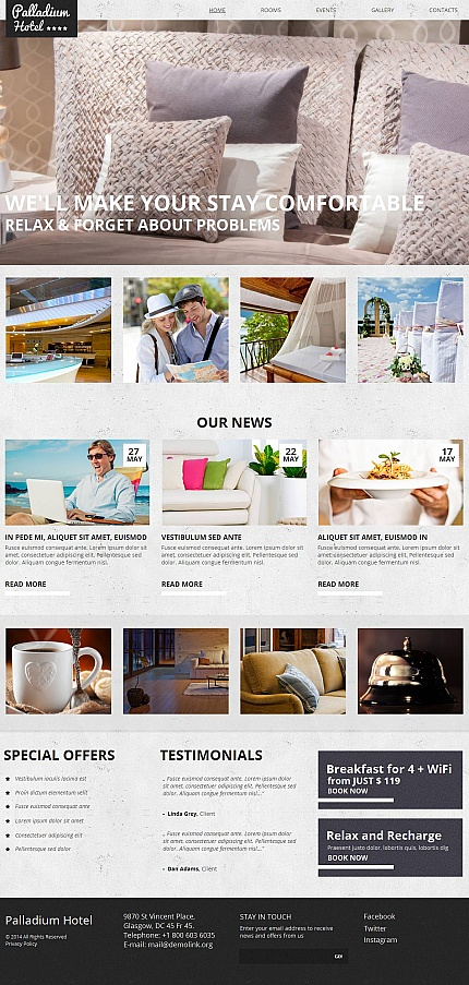 Hotels website inspirations at your coffee break? Browse for more Moto CMS HTML #templates! // Regular price: $139 // Sources available:<b>Sources Not Included</b> #Hotels #Moto CMS HTML