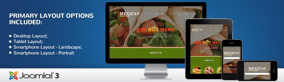 Mexican Restaurant - Template Joomla