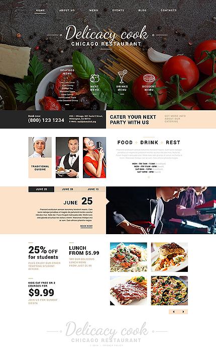 Delicacy Cook - Template Joomla