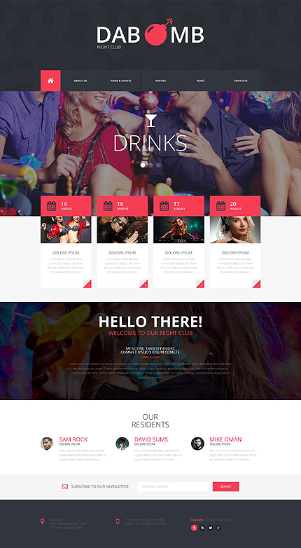 Night Club Most Popular website inspirations at your coffee break? Browse for more Responsive JavaScript Animated #templates! // Regular price: $69 // Sources available: .HTML,  .PSD #Night Club #Most Popular #Responsive JavaScript Animated