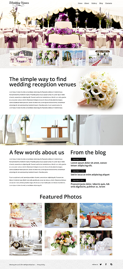Wedding Most Popular website inspirations at your coffee break? Browse for more Bootstrap #templates! // Regular price: $75 // Sources available: .HTML,  .PSD #Wedding #Most Popular #Bootstrap