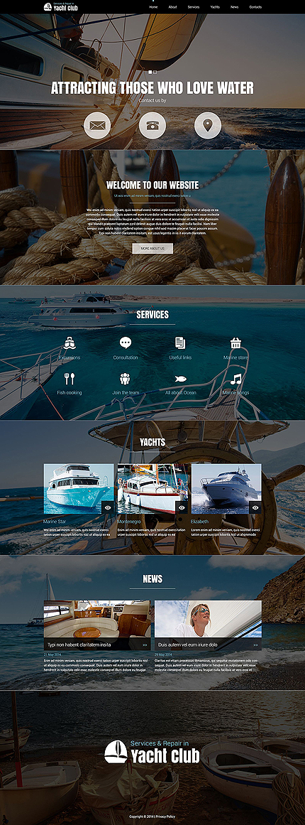 Yacht Club Joomla Template