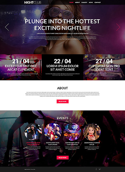 Nightclub Joomla Template