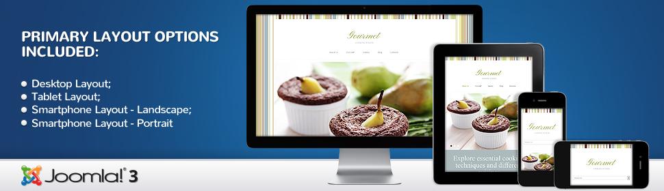 Gourmet - Template Joomla