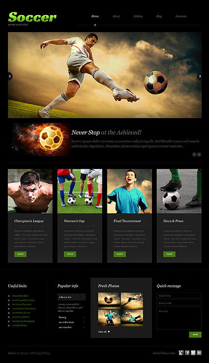 Sport Most Popular website inspirations at your coffee break? Browse for more WordPress #templates! // Regular price: $75 // Sources available: .PSD, .PHP, This theme is widgetized #Sport #Most Popular #WordPress