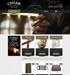 Cigar Store PrestaShop Template