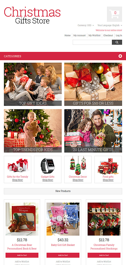 Most Popular Christmas Templates website inspirations at your coffee break? Browse for more Magento #templates! // Regular price: $179 // Sources available: .PSD, .XML, .PHTML, .CSS #Most Popular #Christmas Templates #Magento
